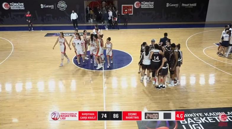 Çeşme Basketbol, Federasyon Kupası'nda Çeyrek Final'de