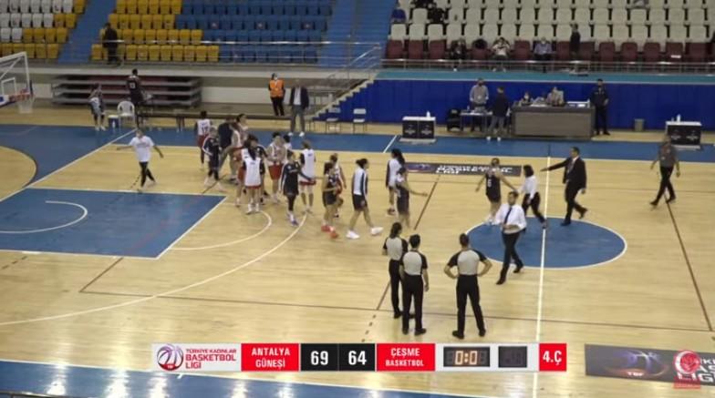 Çeşme Basketbol, Federasyon Kupası'nın ikinci maçını kaybetti