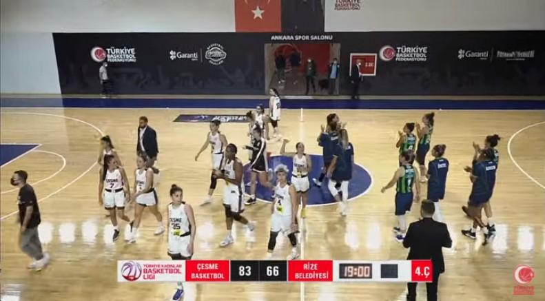 Çeşme Basketbol, Federasyon Kupası'nın ilk maçını 83-66 kazandı
