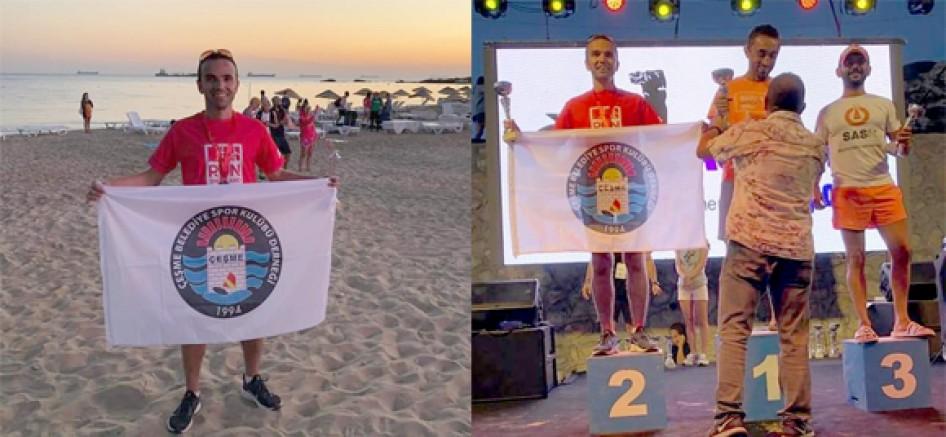 Çeşme Belediyespor sporcusu, Bozcaada'da 2. oldu
